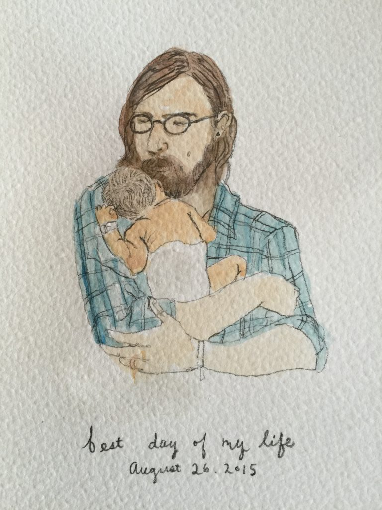 Drawing of Ryan with Harper Reed